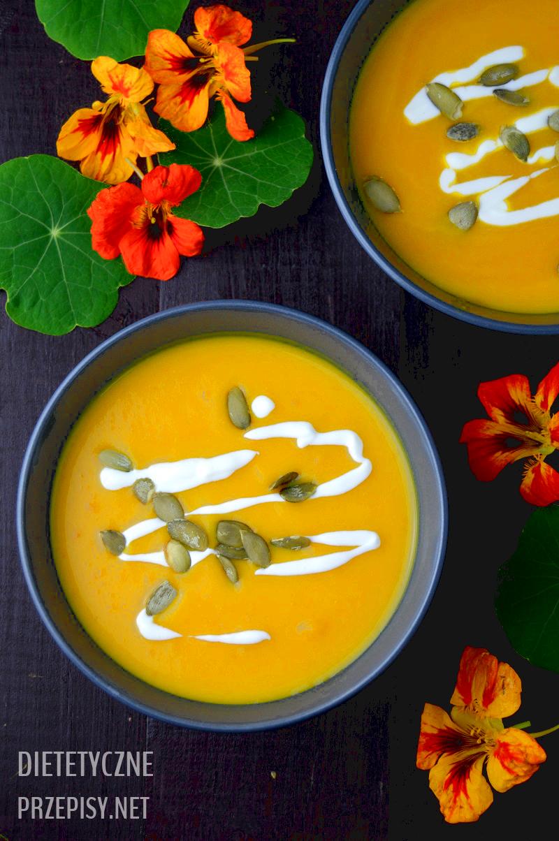 zupa krem z dyni przepis niskokaloryczny