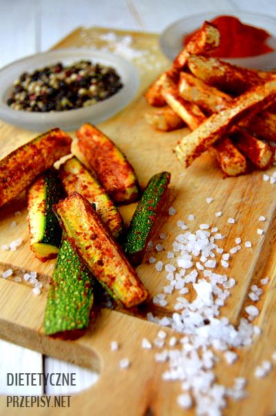 dietetyczne frytki z selera i cukinii 20 kcal