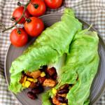 niskokaloryczne burritos w liściach sałaty