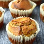 przepis na muffinki owisane z orzechami i śliwką