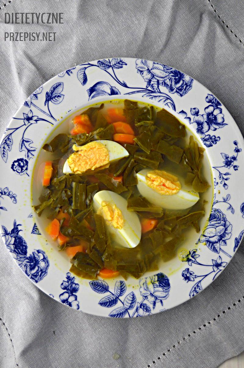 pyszna zupa szczawiowa z jajkiem