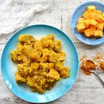 Kremowe curry z kurczaka z dodatkiem dyni
