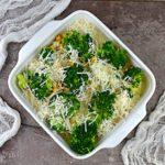 Lekka zapiekanka z brokułami i kurczakiem fit