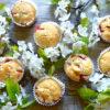 Muffiny jogurtowe z truskawkami – zdrowe słodkości