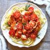 Ekspresowy makaron z dorszem po włosku